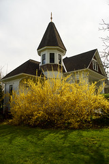 the carriage house (Obsidianphotog) Tags: deepwoodestates salem oregon pnw historicbuildings citypark canonfd24mm outdoors yellow sky grass flowers usa sony