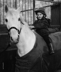 Young Rider by Julie Adams (julz.adams) Tags: fun beautiful pic top love blackandwhite white black pony equestrian photo photographer photography trend trending scotland aberdeen stables horses horseshoe horse boy 100d canon100d camera canon child