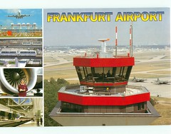 Germany - Frankfurt Airport 5 Views 4 1/2 x 6 1/2 - TO TRADE (bdsuss) Tags: germany frankfurt airport postcard