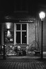 Potsdam bei Nacht (fravo) Tags: monochrome analog 35mm bw blackwhite restaurant cafe tisch potsdam nacht
