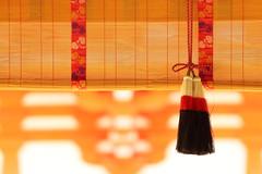 Traditional decoration of shrine (Teruhide Tomori) Tags: decoration architecture construction kyoto japan japon bamboo light wood shimogamoshrine 京都 すだれ 下鴨神社 伝統文化 日本 竹製品