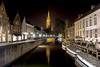 Reflections on Brugge... (garyloughran) Tags: bruges brugge water canals canal belgium belgie europe longexposure slowshutterspeed reflections reflection night nightimage