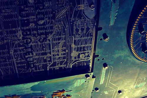 Underlit circuits, disc, Digital DNA, City of Palo Alto, Art in Public Places, 9.01.05, California, USA 9332