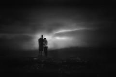 together... (Kati471) Tags: togetherthroughalltimes zusammen bw sw monochrom düster landscape gloomy gemeinsam together schwarzweiss blackwhite