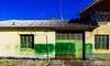 Fragua / Forge (75/365) (Walimai.photo) Tags: fragua forge granjademoreruela zamora spain españa vía de la plata camino santiago panasonic lumix lx5 door puerta window ventana green verde blue azul detail detalle