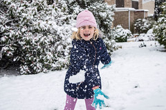 Snowball Fight! (karenmarquick) Tags: snow child play fun snowballs games daughter march christchurch burton dorset