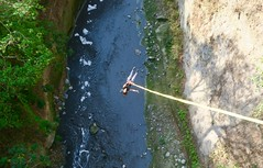"My 4th Bungee jumping. This time  from the bridge at Las Cañas River in Tonacatepeque.  El Salvador  March 2018 #itravelanddance • <a style=""font-size:0.8em;"" href=""http://www.flickr.com/photos/147943715@N05/39110486600/"" target=""_blank"">View on Flickr</a>"
