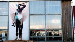 Brest harbour worker - Paul Bloas painting (patrick_milan) Tags: paul bloas painting reflection gip chantier ship manufaturing brest tag graffiti