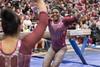 DU Gymnastics - Lynnzee Brown (brittanyevansphoto) Tags: collegegymnastics ncaagymnastics denvergymnastics balancebeam celebration highfive