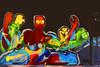 Urban art Power to the people (Marco Braun (In holidays)) Tags: black schwarz weiss white blanche noire walart streetart urbanart graffit berlin 2017 urbannation kopf head coloured colourful farbig bunt comic powertothepeople deutschlandgermanyallemangne