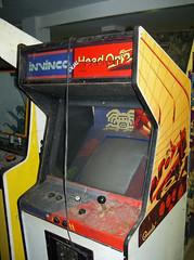 Invinco Head On 2 (scottamus) Tags: classic arcade video game cabinet art artwork design graphics controls controlpanel bezel marquee invinco headon2 dual gremlin 1979