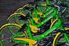 LimeBike (oybay©) Tags: limebike lime bike color colors colorful green yellow enmasse bicycle sandiego san diego seaportvillage bright vivid