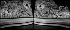converse (CWhatPhotos) Tags: cwhatphotos black white boot foot wear ox olympus penf pen f samyang 75mm fisheye fish eye prime lens camera photographs photograph pics pictures pic picture image images foto fotos photography artistic that have which contain all allstar converse chuck chucks low top tops logo product badge allstars