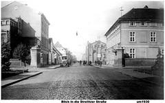 Neustrelitz -Strelitzer Straße unterer Bereich um 1930 (Knipser@) Tags: neustrelitz strasen hw alte ansicht