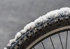 No go today. (Omygodtom) Tags: abstract art season lines snow street nikon70300mmvrlens d7100 scene ngc tire