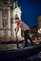 Along the Grand Canal (justenoughfocus) Tags: italy sonyalpha europe gondola gondolier grandcanal night nightphotography travel venice locations venezia veneto it