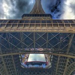 Paris France - Eiffel Tower - View upwards thumbnail