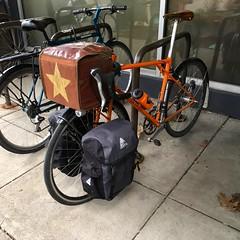 Shopping (Tysasi) Tags: emergencyrandonneuse shopping 650b randonneuse randonneur bike bespokefopchariottm lowrider rack renéhersestyle panniers cargo