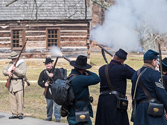 IMGPJ32787A_Fk - Spring Mill State Park - Winter Civil War Re-enactment (David L. Black) Tags: civilwarreenactment stateparks springmillstatepark olympusomdem1mkii olympus40150f2814xtc