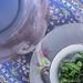 Traditional freshmint tea serving