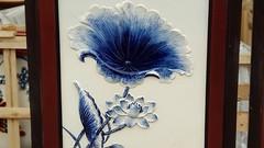 Tranh treo tường vẽ hoa sen - Tranh Gốm Bát Tràng vẽ sen men Xanh đắp nổi đẹp cao cấp (gomsusangtaovietnam) Tags: tranh treo tường vẽ hoa sen gốm bát tràng men xanh đắp nổi đẹp cao cấp