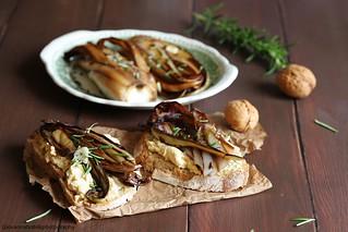 Crostoni di pane con hummus e radicchio grigliato 1