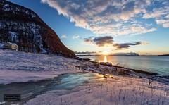 Frozen stream (Torbjørn Tiller) Tags: dyrøy vinje sunset solnedgang frozen ice boathouse tillerhuset tillerhouse
