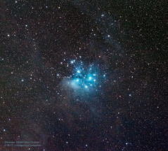 Pleiades with 200mm (Constantine L.) Tags: pleiades m45 messier stars cluster nebulosity constellation monoceros interstellar dust light blue astrophoto astrophotography astronomy canon 6d 200mm ioptron night long exposure deep space object cosmos astrometrydotnet:id=nova2473405 astrometrydotnet:status=solved