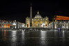 San Pietro (Jaco Verheul) Tags: italië rome italy roma cittàmetropolitanadiroma it nightphotography nikon d7100 longexposure cathedral church vatcican palace night building obelisk square stpeter rain basilique sanpietro dome michelangelo people pope cross catholic sacred