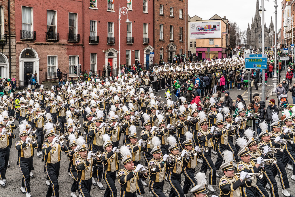PURDUE ALL AMERICAN MARCHING BAND [DUBLIN PARADE 17 MARCH 2018]-137686