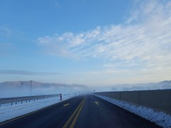 Winter road (Iggy Y) Tags: winter road snow white hill tree forest fog day light sky cloud