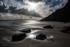 Deserted (PenparcauBoy) Tags: beach rock water clouds sky marros coastline ocean sun landscape sand wales britain pembrokeshire carmarthenshire nikon d750