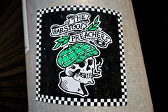 The Barstool Preachers, Blackpool, UK (Robby Virus) Tags: blackpool england uk unitedkingdom britain greatbritain barstool preachers skull smoke smoking death rock punk music band sticker slap