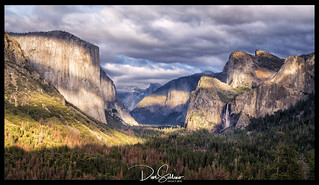 Dusk moving over Yosemite