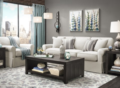 Willowick Sofa (raymourandflanigan) Tags: room livingroom loft city apartment apartmentliving spring green blue white souch couch sofa chair coffeetable interior home living design decor