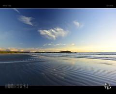 Endless Blue (tomraven) Tags: beach blue bluesky bluebeach reflections light sand sea clouds ripples horizon peninsula tomraven aravenimage q12018 nikon1 v3