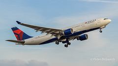 N861NW   Airbus A330-200 - Delta Air Lines (Peter Beljaards) Tags: nikon aviationphotography n861nw deltaairlines airbusa330200 airbus a330 ams eham schiphol takeoff departure plane airplane aircraft