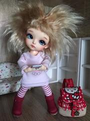 Cute photo by owner ❤ (♥..Nomyens..♥) Tags: bjd balljointdoll toy doll custom faceup paint painting painted repaint handmade nomyens nomyenscom lati latiyellow latidoll