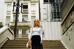 Tais (Henrique F. da Silva) Tags: photoshoot film filmisnotdead portrait city sp saopaulo downtown nikonfm colorplus200 kodak 35mm filmisalive girl