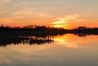 Sonnenuntergang am Kremmener See