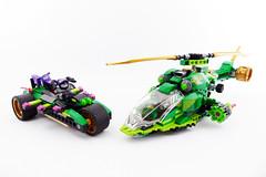 "Geckopter & X-Trike LEGO Ninjago 70641 Alternate MOC (""grohl"") Tags: ninjago lego 70641 nightcrawler ninja lloyd nya ultraviolet ultra car xmas trike bike motorcycle helicopter heli chopper shooting conflict cool alterante cmodel technic green grohld grohl666 2018"