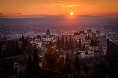 the alhambra | granada, spain (kleptografy) Tags: andalusia europe granada spring palace season sunset españa andalucía spain es totalphoto