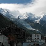 Le glacier des Bossons vu depuis Chamonix thumbnail