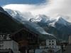 Le glacier des Bossons vu depuis Chamonix (maxguitare1) Tags: neige nieve neve snow montagne mountain montagna montaña nuages clouds nubes nuvole glacier france alpes savoie ville