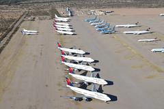 Delta Air Lines Boeing 747-400; N668US@MZJ;28.01.2018 (Aero Icarus) Tags: maranapinalairparkairport mzj marana arizona plane avion aircraft flugzeug planegraveyard