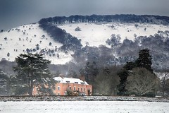 Triscombe House (OutdoorMonkey) Tags: triscombe triscombehouse house home building quantocks quantockhills somerset westsomerset snow field fields hill hillside tree trees countryside rural scenic scenery landscape outside outdoor backdrop