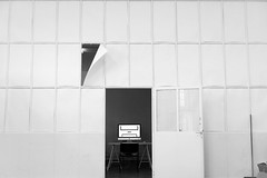 Nobody is there (Hfbk Hamburg) (nika.vero) Tags: art computer empty room inside white door windows strange abstract wall architecture