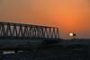 Sunset by the bridge (Ryan Echevarria) Tags: sun sunset yas island bridge uae emirate abu dhabi sunlight