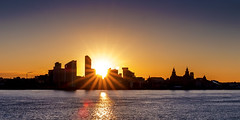 Liverpool Sunrise (Spokenwheelphotography) Tags: liverpool liverpoolwaterfront lighting liverbirds liverbuilding sunrise sunny cityscape liverpoolecho fuji fujifilm fujifilmxt2 silhouette silhouettes rivermersey wirral wirralglobe wirralnews