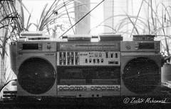 Home Theater - 1987 (Zaahir Muhammad) Tags: boombox 1987 cassette tape radio tmax100